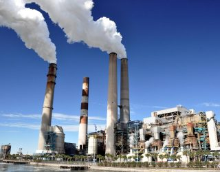 Big Bend Power Station, a coal-fired power plant located on Tampa Bay, across from the city of Tampa, Florida.